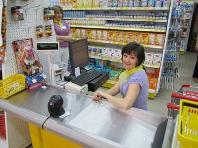 Кассир в магазине
