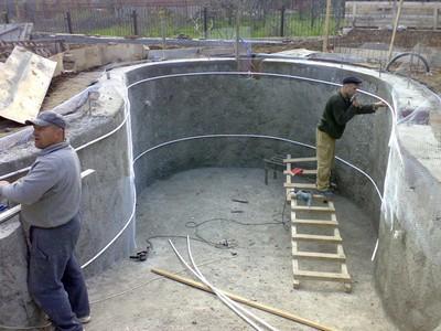 Выполнение заказа клиента на строительство бассейна