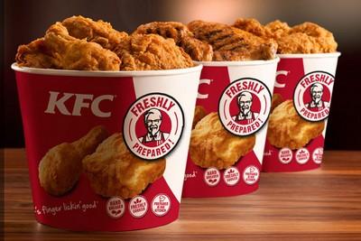 Блюда, предлагаемые в ресторане KFC
